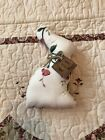 Primitive Handmade Country Bunny Delicate Floral Fabric Tag: Simply Blessed