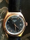 New Elysee Day Date Black Leather Strap Men's Watch Model 28417