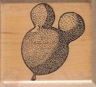 mouse balloon mostly animals Wood Mounted Rubber Stamp 1 1 2 x 1 1 2 Free Ship