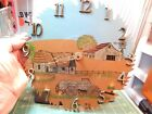 Vtg 98 Ranch Barn Scene Artist Painted  Signed 10 Power saw Blade Clock Con