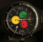 Adidas Mens Cambridge Black Grid Textured Dial Colorful Chronograph Watch