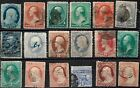 VARIETY COLLECTION OF 19TH CENTURY CLASSICS INTERESTING FANCY CANCELS CN3