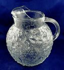 Anchor Hocking Milano Clear Glass 96 Ounce Ball Pitcher with Ice Lip Textured