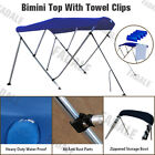 3 Bow Boat Bimini Top Canopy Cover Free Clips 6 ft 73 78 Sun Shade PB3N3