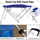 4 Bow Boat Bimini Top Canopy Cover 8 ft Free Clips 91 96 Support Poles PB4N3