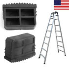 2.5x0.9x1.4inch Rubber Non Slip Replacement Step Ladder Feet Foot Cover Black
