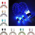 USB Type C Led Light  Fast Charging Data Charger Cable For Android Samsung S8