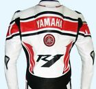 Yamaha Motorcycle Cowhide Leather jackt Motorcycle Motorbike Racing Biker Jacket