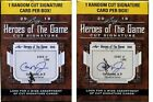 ✔SEALED (2) 2018 LEAF HEROES OF THE GAME CUT SIGNATURE - 2 Blaster Boxes NO TAX!