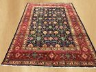 Authentic Hand Knotted Antique Persian Tabriz Wool Area Rug 10 x 7