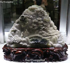Natural Dushan Jade Old Man Tongzi Tree Pavilion Mountain Water Landscape Shanzi