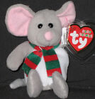 TY BABY BEANIES - TINSEL the MOUSE - MINT with MINT TAGS