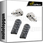 LIGHTECH FRONT FOOTPEGS ORG REAR SETS BLACK HONDA CB 600 HORNET 07/13