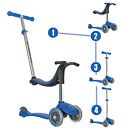 Globber Evo 3 Wheel 4-in-1 Convertible Scooter (Blue) - Light Up Wheels