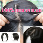 100% Indian Human Hair Mono Silk Base Frontal Topper Hairpiece Toupee Women V058
