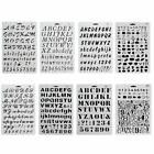 Journal Stationery 26 Letters Plastic Stencils Hollow Ruler Painting Template