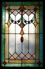 Hand Painted Stained Glass Art Panel Framed 8x10 New Art
