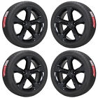 20 CHARGER CHALLENGER RT BLACK WHEELS RIMS TIRES FACTORY OEM SET 2529