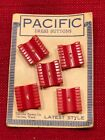 Pacific Brand Carved Red Bakelite Dress Buttons
