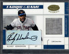 2003 LEAF CERTIFIED RICKEY HENDERSON AUTO JERSEY #03 50 FABRIC OF THE GAME RARE