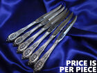 *1* WALLACE ROSE POINT STERLING SILVER STEAK KNIFE - EXCELLENT CONDITION