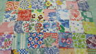 Lot of 50 Vintage Feedsack Squares Blocks 25 Quilt top Crafts Irish Chain WOW