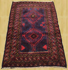 Hand Knotted Vintage Afghan Balouch Area Rug 4.4  x 2.1 (3462)