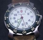 Victorinox Men's Swiss Made WR 50m Watch Leather & Nylon Band Date 24 Hour