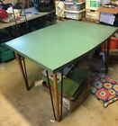 Vintage Cute Dining Room Table Wood and Metal 4 Chairs