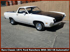 1971 Ford Ranchero COOL COLLECTIBLE CLASSIC 1971 FORD RANCHERO 302 V8! NO RESERVE!!