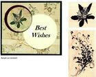 2 Inkadinkado Wd Mtd Rubber Stamps FLORAL SPRAY  BLOSSOM NEW FREE SHIP++