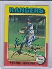 Signed Fergie Jenkins Auto 1975 Topps Card