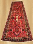 Large Hand Knotted Vintage Persian Hamadan Wool Area Runner 12 x 4 FT