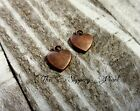 6 Heart Charms Pendants Alice in Wonderland Charms Antique Copper Tone Findings