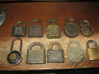 10 ANTIQUE PADLOCKS YALE, SIMMONS, WB SINCLAIR, MASTER, STABILITY, EAGLE, DUDLEY