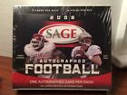 2008 SAGE AUTOGRAPHED FOOTBALL FACTORY SEALED HOBBY BOX AUTO PER PACK 12 PACKS