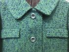 Womens Classic Vintage Wool Blue Green Winter Long Pea Coat Trench Dress coat