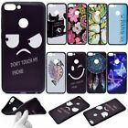 For Huawei Butterfly phone cover Rubber embossed dreamcatcher phone case Black