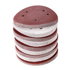 Baisidai 100 Pack 5-Inch 8-Hole 60 Grit Dustless Hook-and-Loop Sanding Disc Sand