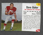 1962 Post Cereal #93 Dave Baker SF 49ers RARE