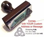Triquetra Rubber Stamp With Your Custom Address