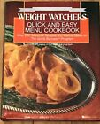 Weight Watchers Quick and Easy Menu Cookbook 1988 Quick Success Silver Anniversa