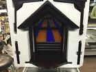 LENOX Large First Blessing Nativity Wooden Stable Creche Dark Brown w Box
