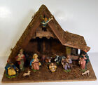 Vintage 16 Italian Nativity Scene Manger Jesus Birth Christ Mary Joseph