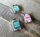 Miniature Book Charms Set Tiny Books Library Pendants Librarian Charms 3pcs