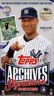 2017 TOPPS ARCHIVES SIGNATURE POSTSEASON ED BASEBALL BOX