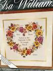 Elsa Williams Pansy Heart Wedding Sampler Kit Counted Cross Stitch Picture 02097