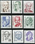 Great Americans Complete Set of 9 MNH Stamps Scotts 2933 to 2943 Ships FREE