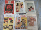 Lot of 6 Halloween Fall Thanksgiving Craft Sewing Patterns