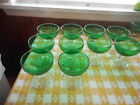 10  Anchor Hocking Forest Green Bubble Boopie Sherbet/Champagne 4